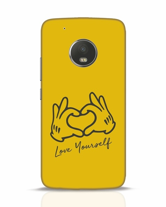 Shop Love Your Self Hand Gesture Moto G5 Plus Mobile Cover-Front