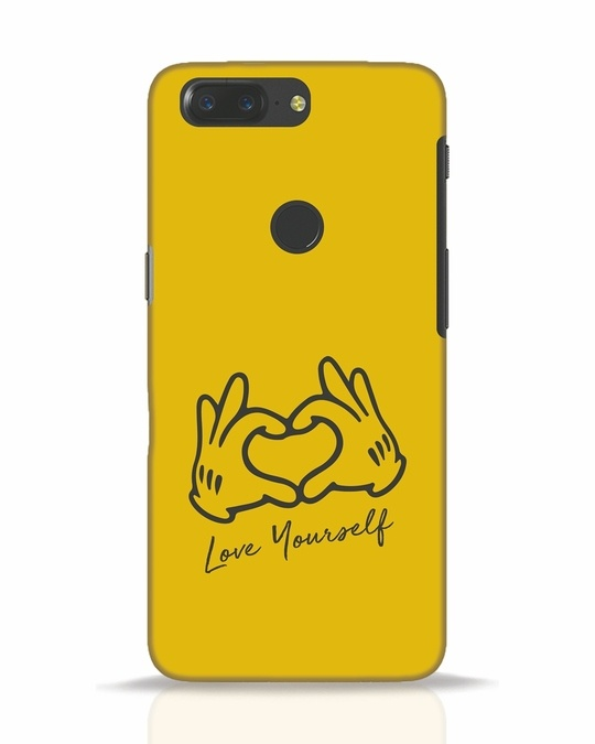 Shop Love Your Self Hand Gesture OnePlus 5T Mobile Cover-Front