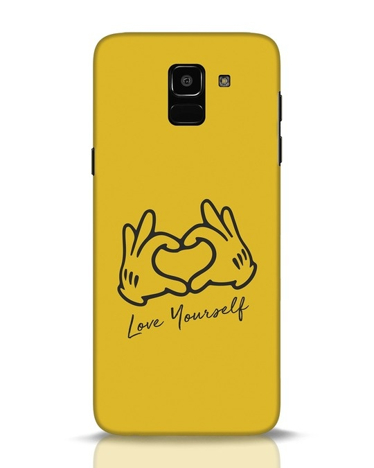 Shop Love Your Self Hand Gesture Samsung Galaxy J6 Mobile Cover-Front