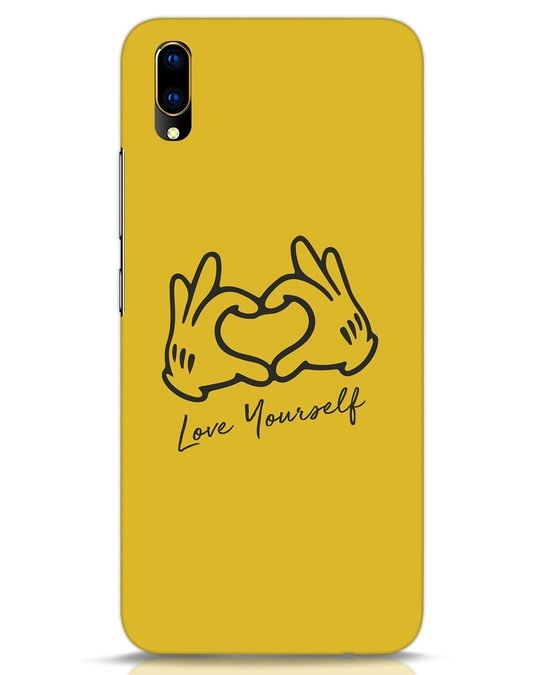 Shop Love Your Self Hand Gesture Vivo V11 Pro Mobile Cover-Front