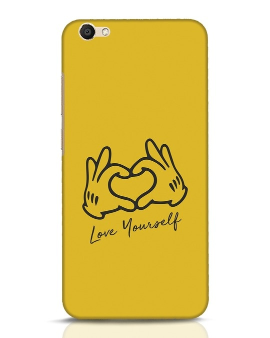 Shop Love Your Self Hand Gesture Vivo V5 Mobile Cover-Front