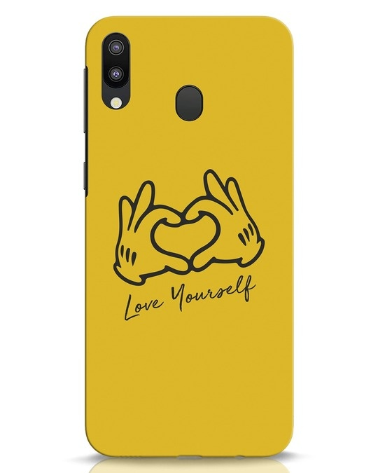 Shop Love Your Self Samsung Galaxy M20 Mobile Cover-Front