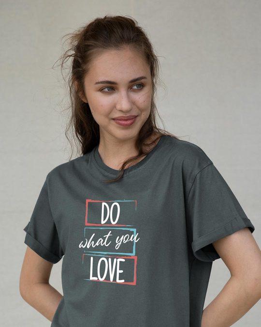 Shop Love Your Work Boyfriend T-Shirt-Front