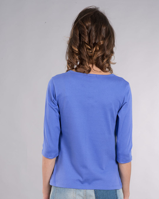 Shop Love Your Work Round Neck 3/4th Sleeve T-Shirt-Back