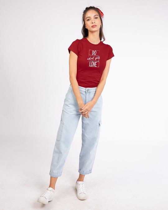 Shop Love Your Work Half Sleeve T-shirt-Design