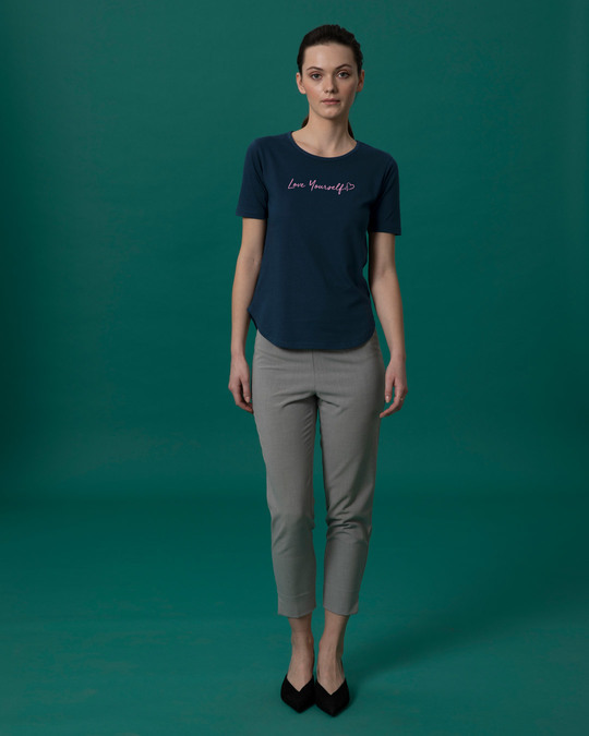 Shop Love Yourself Basic Round Hem T-Shirt