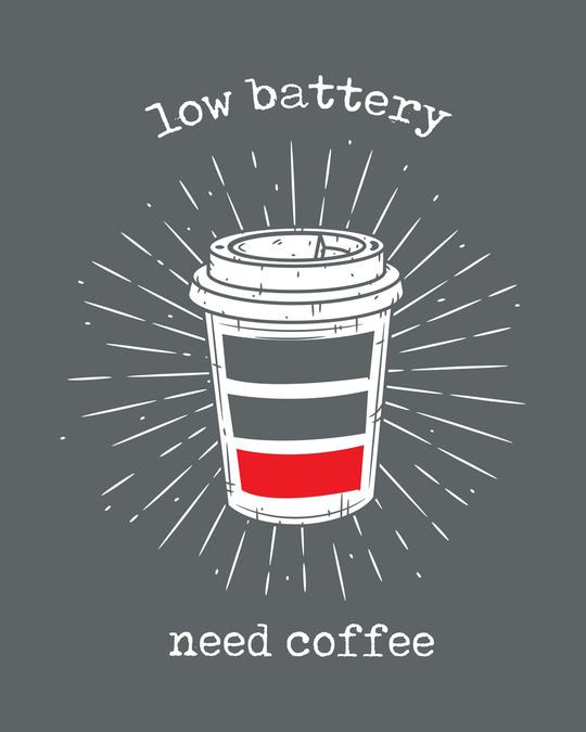 Shop Low Battery Coffee Boyfriend T-Shirt-Full