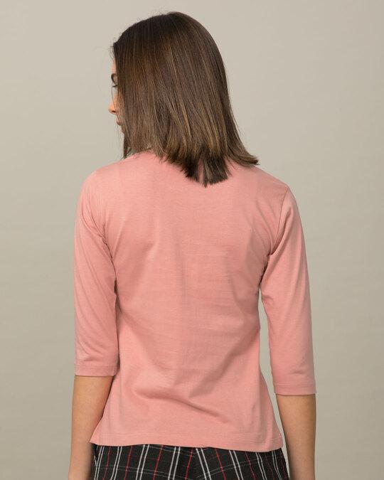 Shop Luna Weird Round Neck 3/4th Sleeve T-Shirt (HPL)-Back