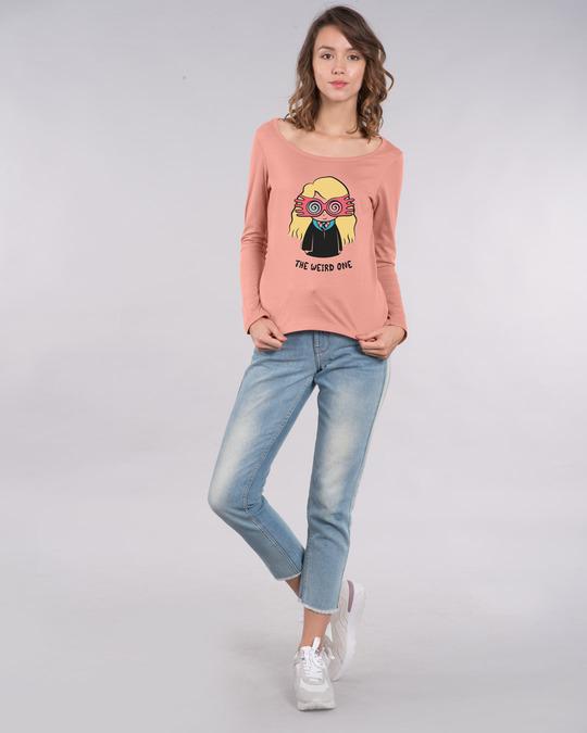Shop Luna Weird Scoop Neck Full Sleeve T-Shirt (HPL)-Design