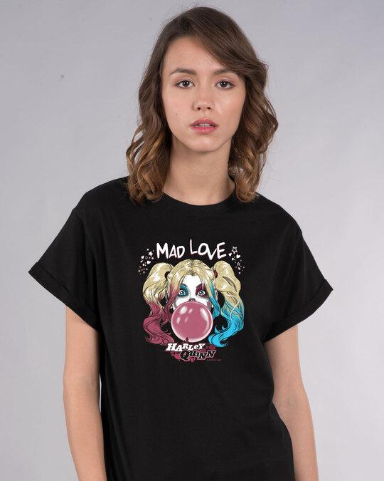 Shop Mad Love Harley Boyfriend T-Shirt (BML)-Front