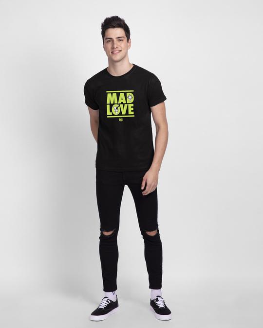 Shop Mad Love Joker  Half Sleeve T-Shirt  (DCL)-Full