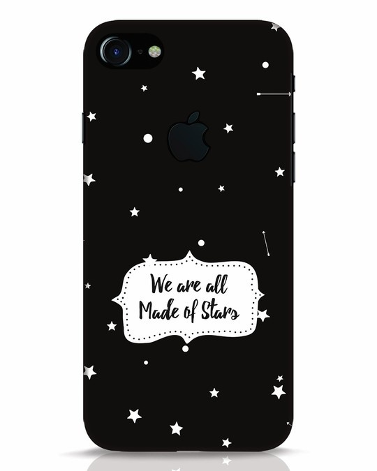 Shop Made Of Stars iPhone 7 Logo Cut Mobile Cover-Front