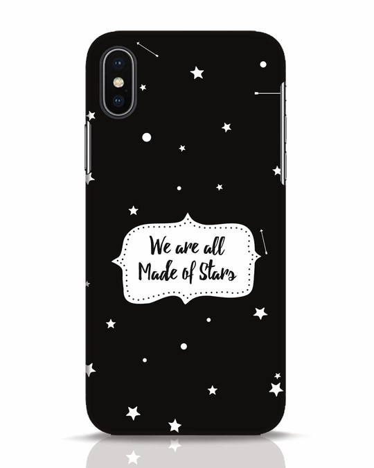 Shop Made Of Stars iPhone X Mobile Cover-Front