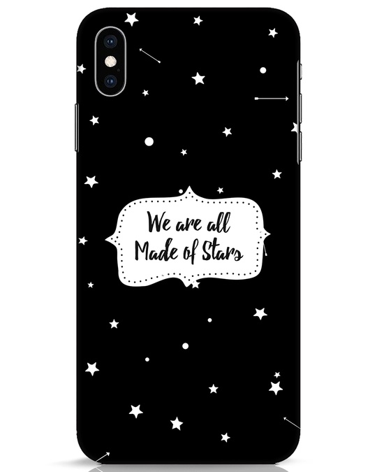 Shop Made Of Stars iPhone XS Max Mobile Cover-Front