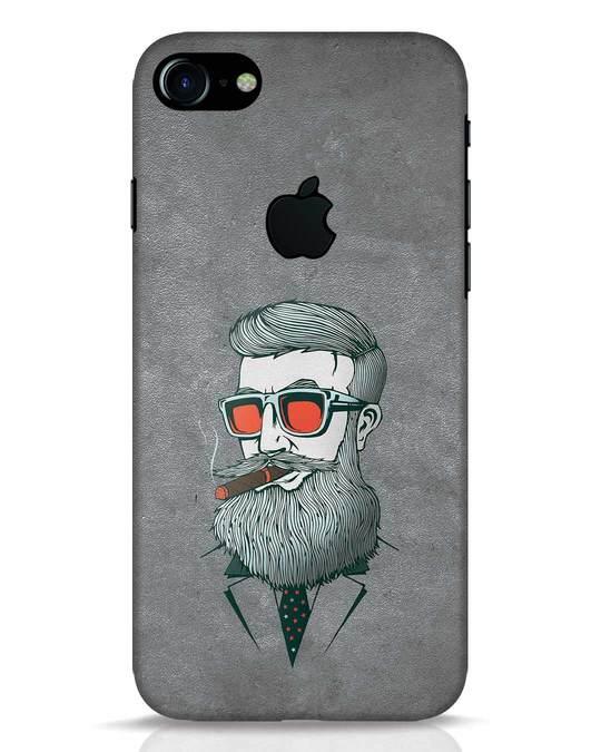 Shop Mafia iPhone 7 Logo Cut Mobile Cover-Front