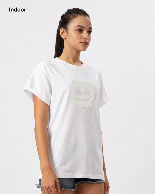 Shop Magic Marshmello Boyfriend T-Shirt-Full
