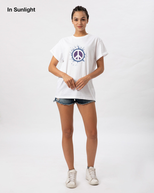 Shop Magic Peace Boyfriend T-Shirt