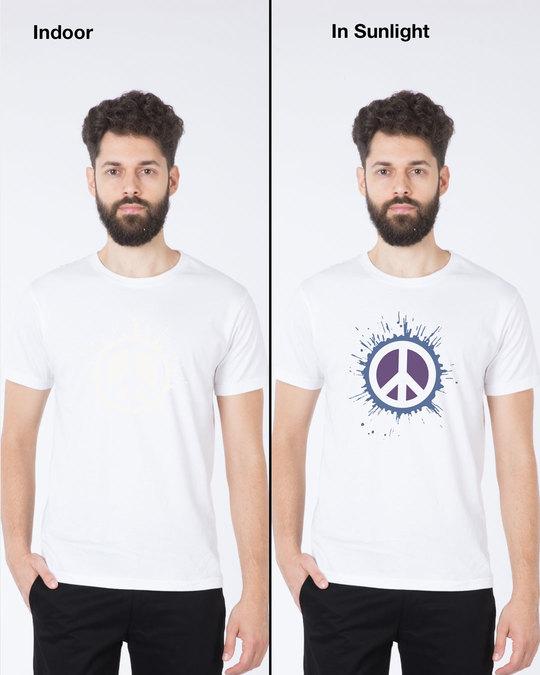 Shop Magic Peace Half Sleeve T-Shirt-Back