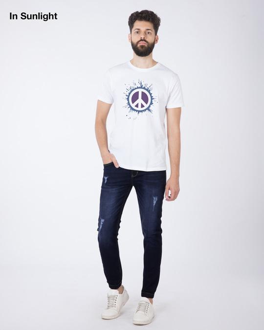 Shop Magic Peace Half Sleeve T-Shirt