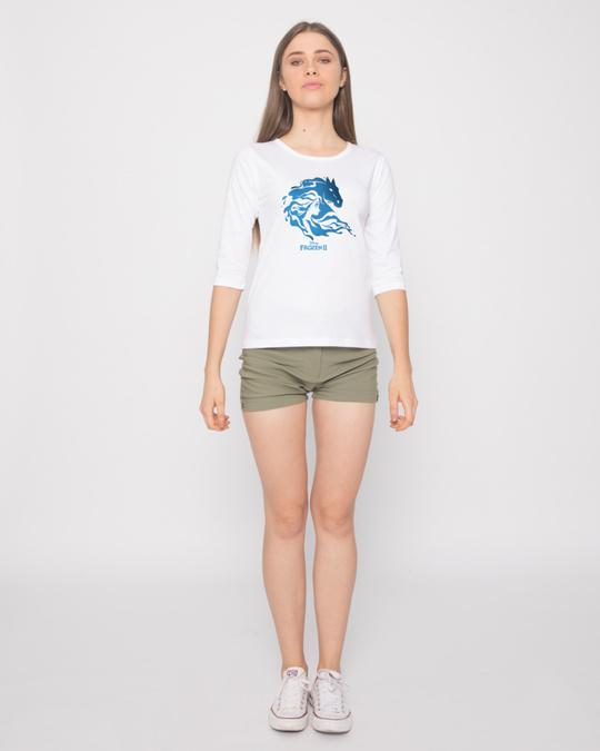 Shop Magical Elsa Round Neck 3/4th Sleeve T-Shirt (FROZEN)-Design