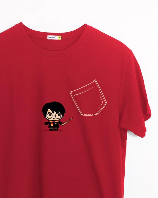 Shop Magical Pocket Half Sleeve T-Shirt (HPL)-Front