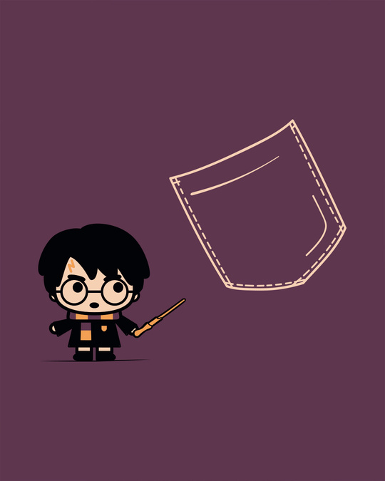 Shop Magical Pocket Scoop Neck Full Sleeve T-Shirt (HPL)