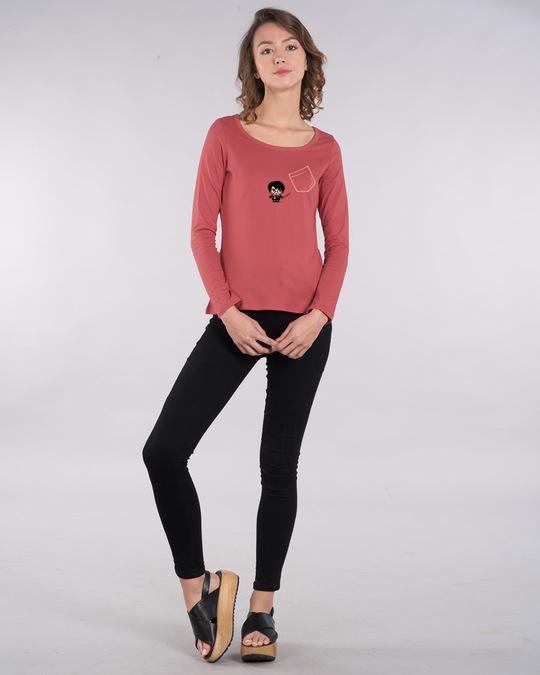 Shop Magical Pocket Scoop Neck Full Sleeve T-Shirt (HPL)-Full