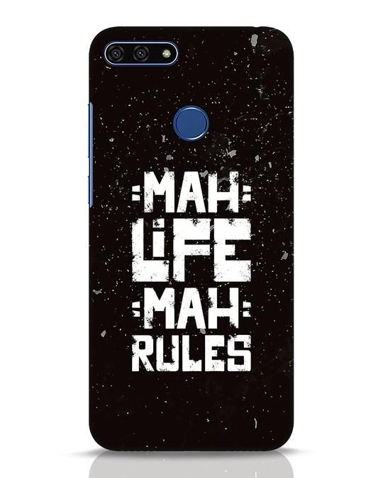 Shop Mah Life Mah Rules Huawei Honor 7A Mobile Cover-Front
