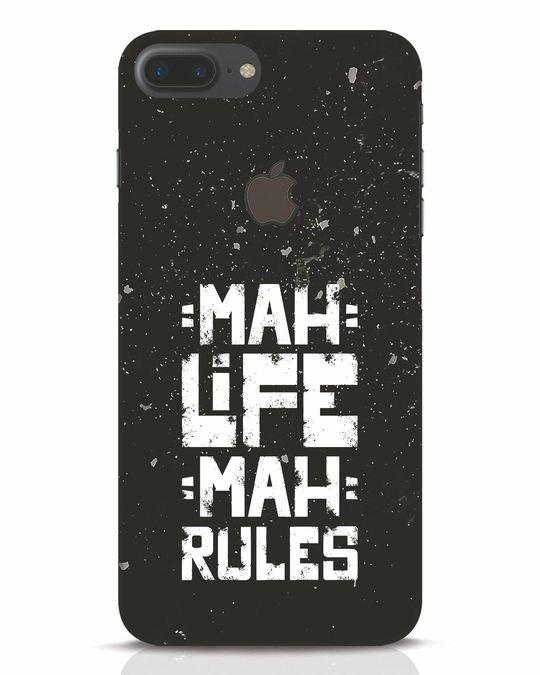 Shop Mah Life Mah Rules iPhone 7 Plus Logo Cut Mobile Cover-Front