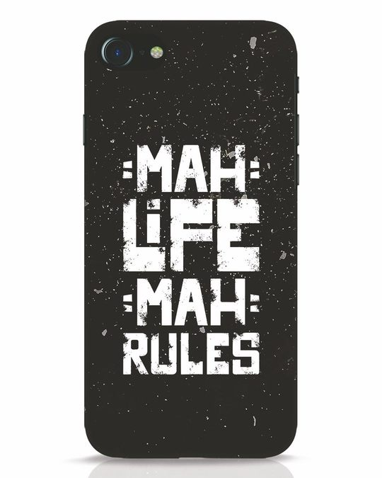Shop Mah Life Mah Rules iPhone 8 Mobile Cover-Front
