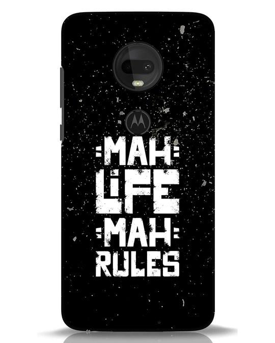 Shop Mah Life Mah Rules Moto G7 Mobile Cover-Front