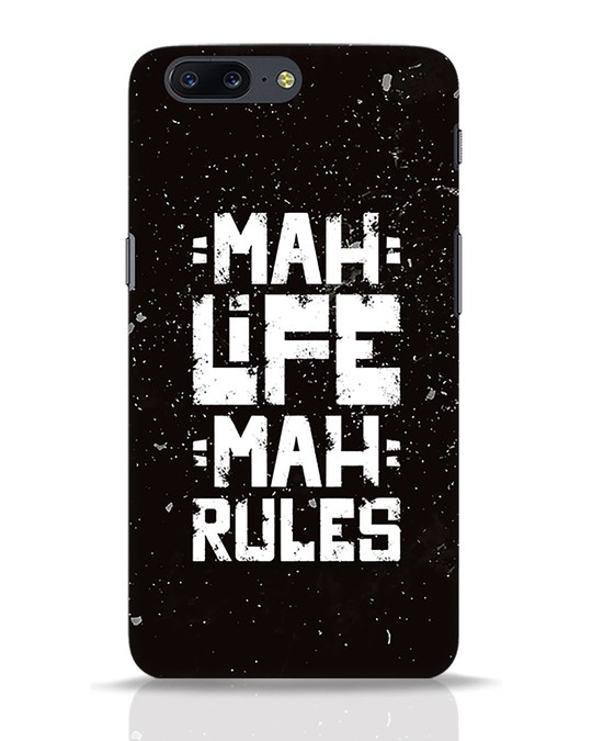 Shop Mah Life Mah Rules OnePlus 5 Mobile Cover-Front
