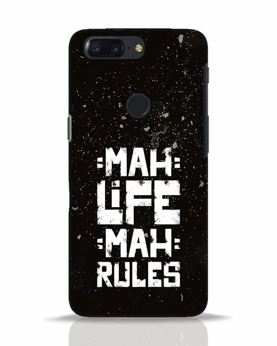 Shop Mah Life Mah Rules OnePlus 5T Mobile Cover-Front