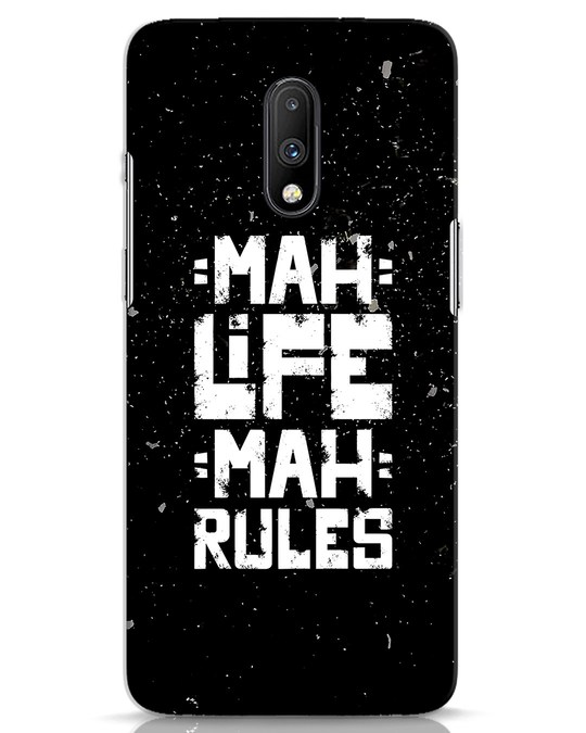 Shop Mah Life Mah Rules OnePlus 7 Mobile Cover-Front