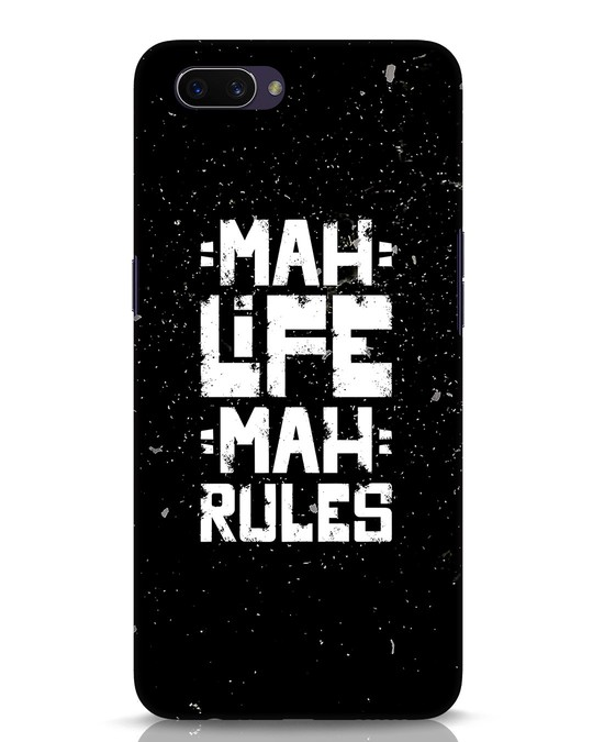 Shop Mah Life Mah Rules Oppo A3S Mobile Cover-Front