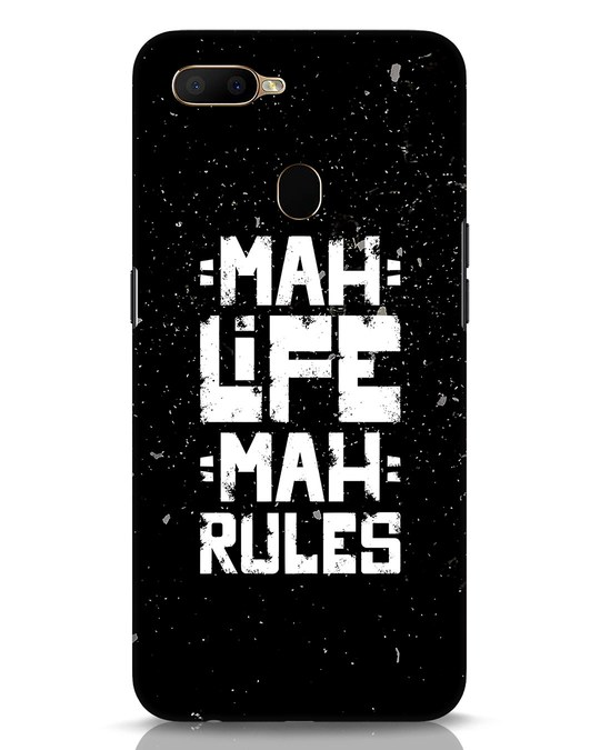 Shop Mah Life Mah Rules Oppo A5s Mobile Cover-Front