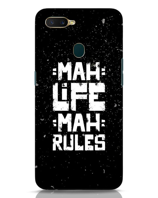 Shop Mah Life Mah Rules Oppo A7 Mobile Cover-Front