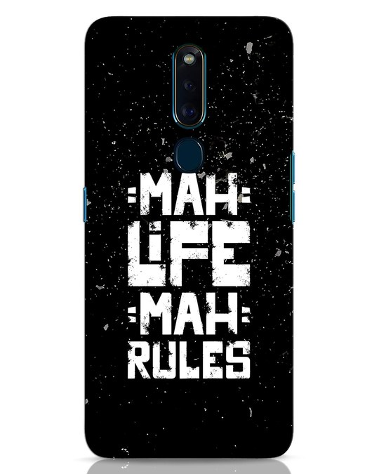 Shop Mah Life Mah Rules Oppo F11 Pro Mobile Cover-Front