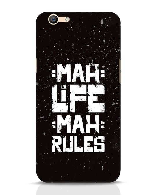 Shop Mah Life Mah Rules Oppo F1s Mobile Cover-Front