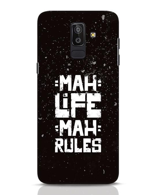Shop Mah Life Mah Rules Samsung Galaxy J8 Mobile Cover-Front