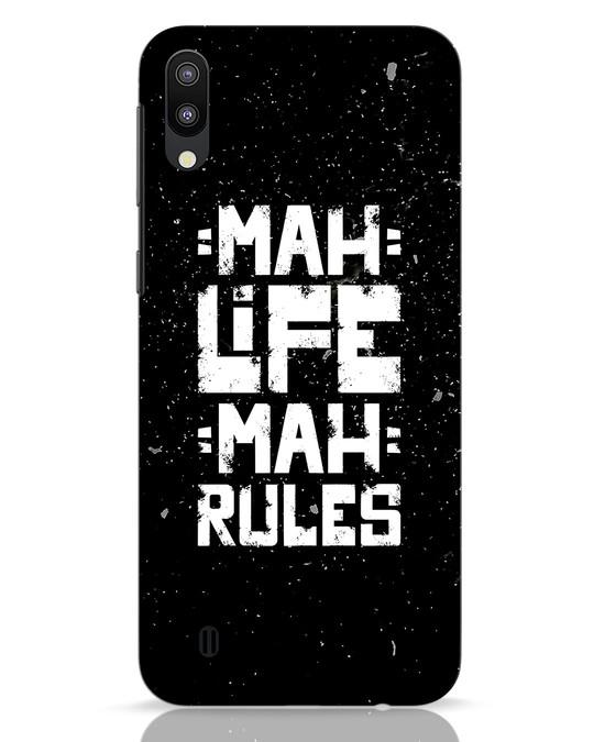 Shop Mah Life Mah Rules Samsung Galaxy M10 Mobile Cover-Front