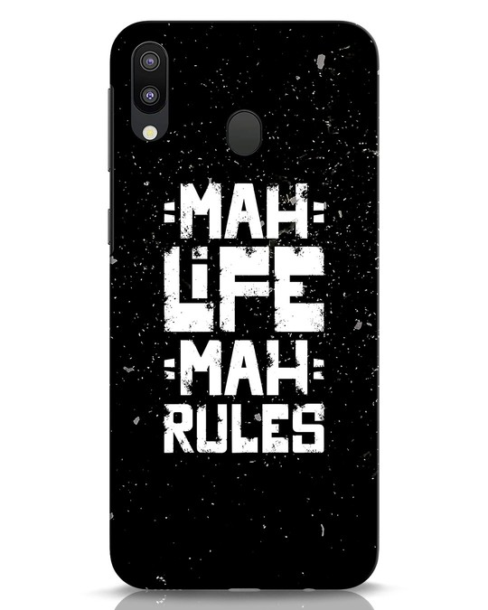 Shop Mah Life Mah Rules Samsung Galaxy M20 Mobile Cover-Front