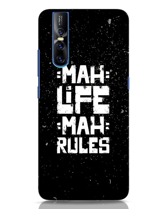 Shop Mah Life Mah Rules Vivo V15 Pro Mobile Cover-Front