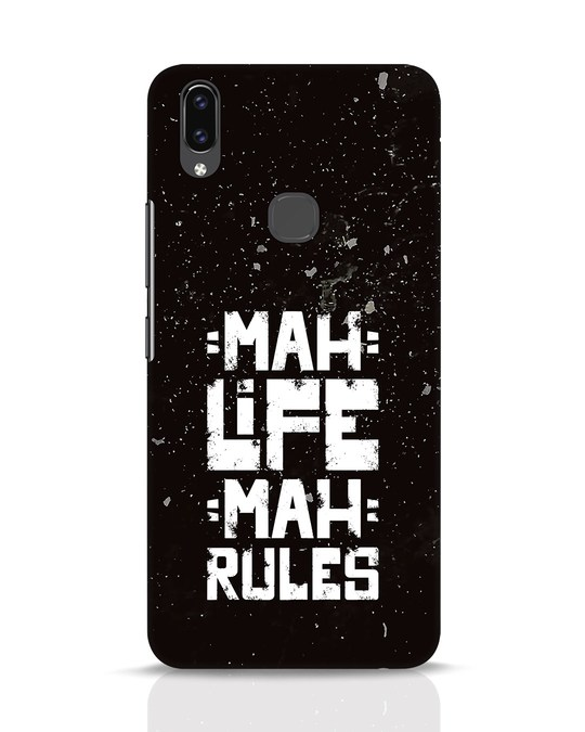 Shop Mah Life Mah Rules Vivo V9 Mobile Cover-Front