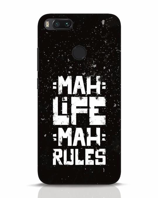 Shop Mah Life Mah Rules Xiaomi Mi A1 Mobile Cover-Front