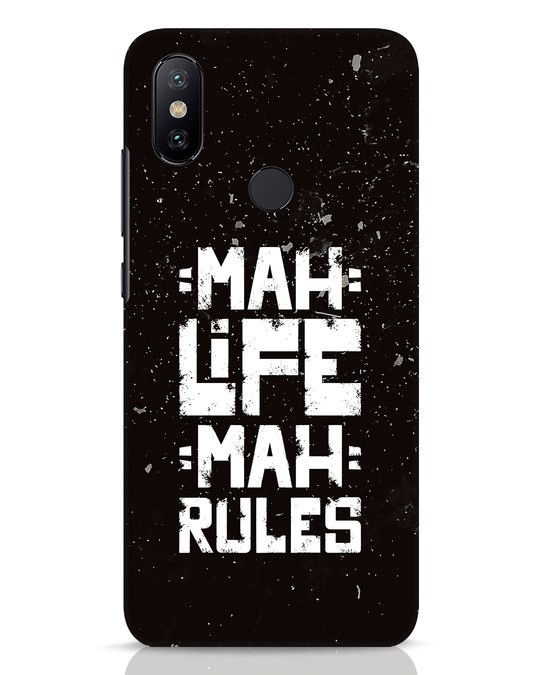 Shop Mah Life Mah Rules Xiaomi Mi A2 Mobile Cover-Front