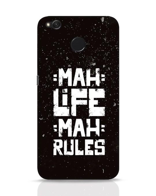 Shop Mah Life Mah Rules Xiaomi Redmi 4 Mobile Cover-Front