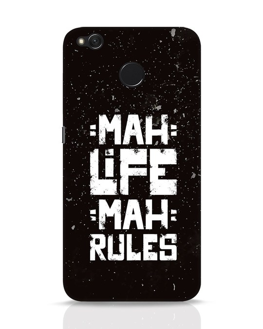 Shop Mah Life Mah Rules Xiaomi Redmi 4 Mobile Cover-Front