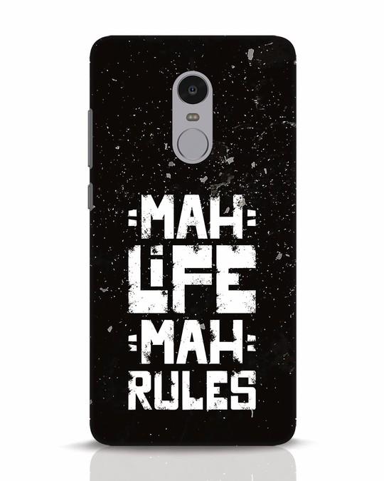 Shop Mah Life Mah Rules Xiaomi Redmi Note 4 Mobile Cover-Front