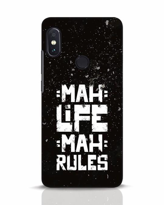 Shop Mah Life Mah Rules Xiaomi Redmi Note 5 Pro Mobile Cover-Front